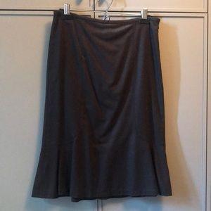 Chocolate brown DKNY skirt.